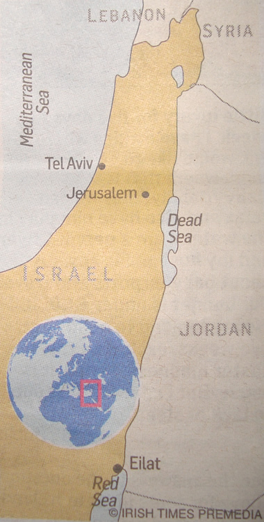 The Occupied West Bank, Gaza and Golan Heights have magically disappeared!